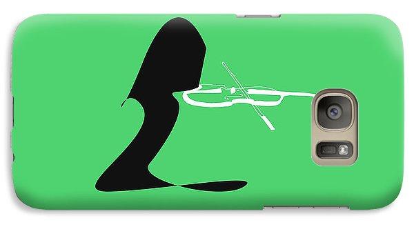 Galaxy Case featuring the digital art Violin In Green by Jazz DaBri