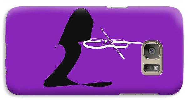 Galaxy Case featuring the digital art Violin In Purple by Jazz DaBri
