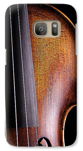 Violin Isolated On Black Galaxy S7 Case by M K  Miller