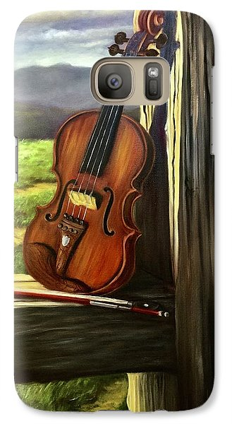 Galaxy Case featuring the painting Violin by Randol Burns