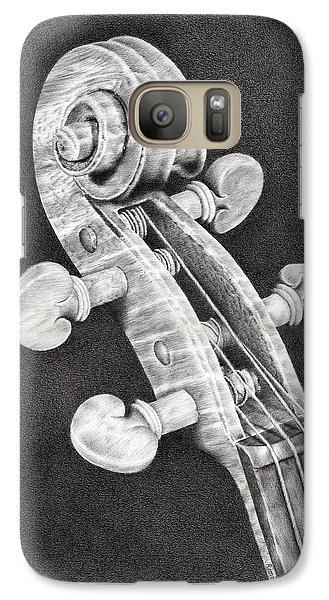 Violin Galaxy S7 Case - Violin Scroll by Remrov