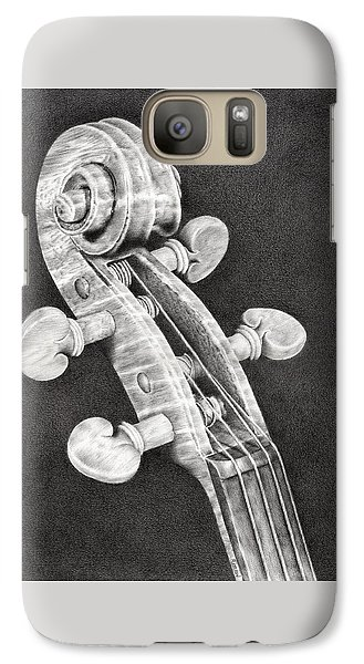 Violin Scroll Galaxy S7 Case by Remrov