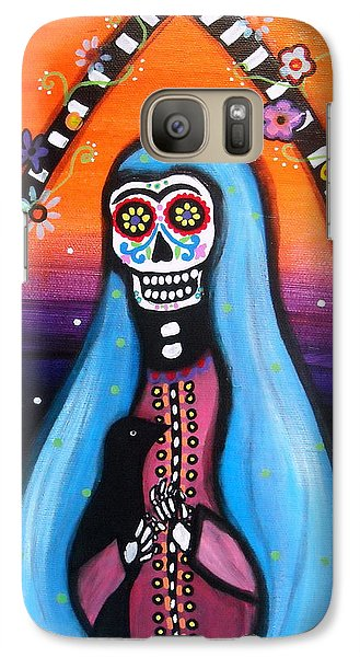 Galaxy Case featuring the painting Virgen Guadalupe Muertos by Pristine Cartera Turkus