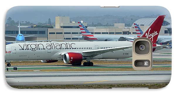 Galaxy Case featuring the photograph Virgin Atlantic Boeing 787-9 G-vzig Los Angeles International Airport May 3 2016 by Brian Lockett