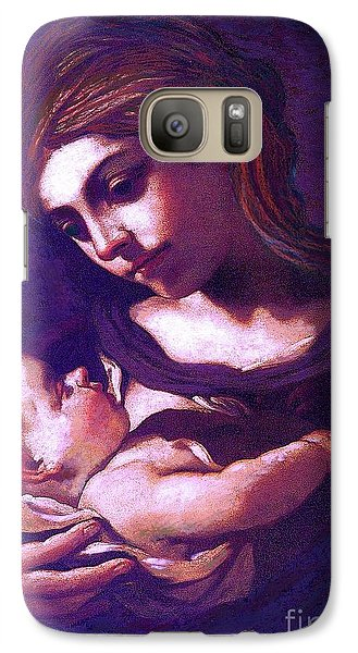 Galaxy Case featuring the painting Virgin Mary And Baby Jesus, The Greatest Gift by Jane Small