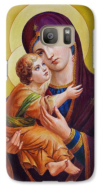 Galaxy Case featuring the painting Virgin Of Silver Spring - Theotokos by Svitozar Nenyuk