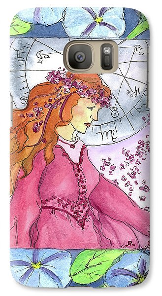 Galaxy Case featuring the painting Virgo by Cathie Richardson