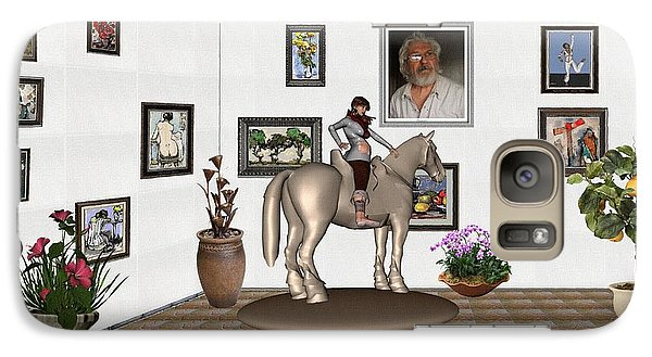 Galaxy Case featuring the mixed media Virtual Exhibition Horsewoman 13 by Pemaro
