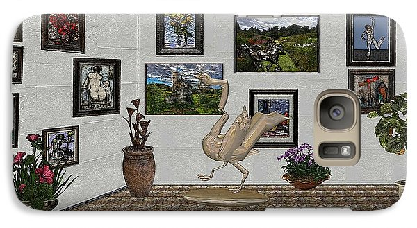 Galaxy Case featuring the mixed media virtual exhibition_Statue of swan 23 by Pemaro