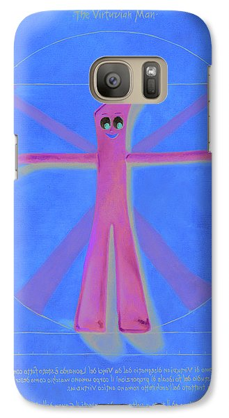 Virtuvian Man Galaxy Case by Judy Sherman