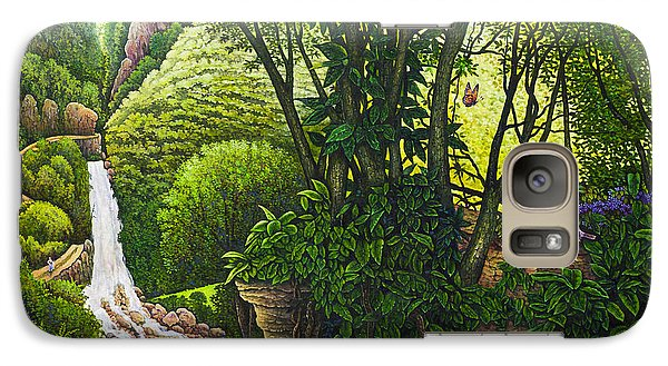 Galaxy Case featuring the painting Visions Of Paradise Vi by Michael Frank