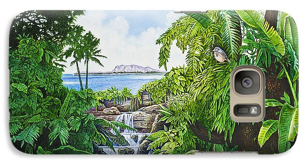 Galaxy Case featuring the painting Visions Of Paradise Ix by Michael Frank