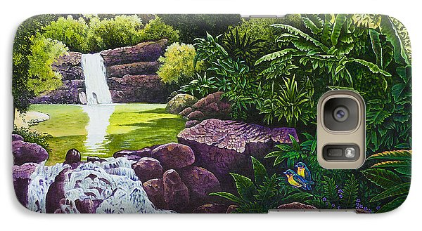 Galaxy Case featuring the painting Visions Of Paradise X by Michael Frank