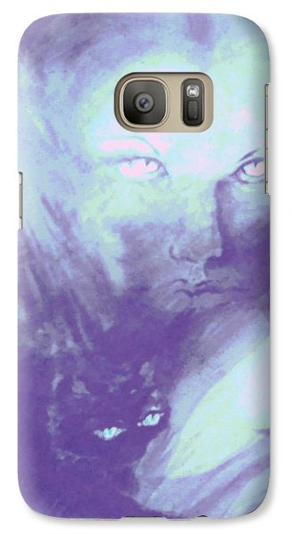Galaxy Case featuring the painting Visions Of The Night by Denise Fulmer