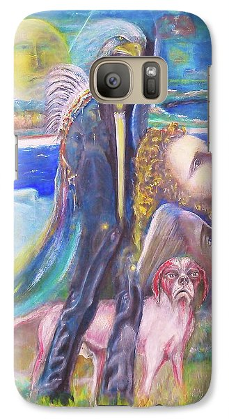 Galaxy Case featuring the painting Visiting Star Beings by Kicking Bear  Productions