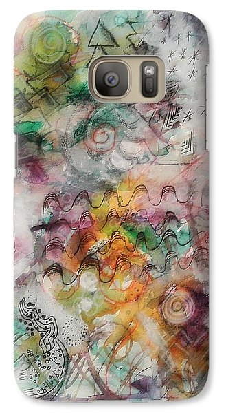 Galaxy Case featuring the mixed media Visual Language by Mimulux patricia no No