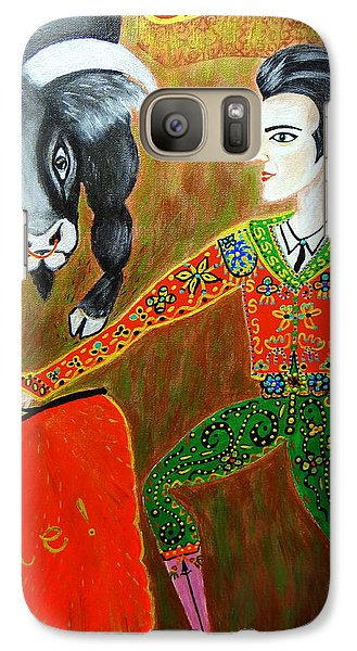 Galaxy Case featuring the painting Viva Don Toreadore by Marie Schwarzer