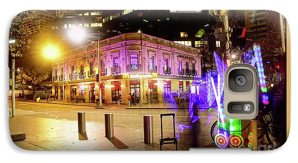 Galaxy Case featuring the photograph Vivid Sydney Circular Quay By Kaye Menner by Kaye Menner