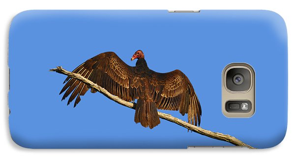 Galaxy Case featuring the photograph Vivid Vulture .png by Al Powell Photography USA