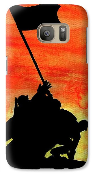 Galaxy Case featuring the painting Vj Day by P J Lewis