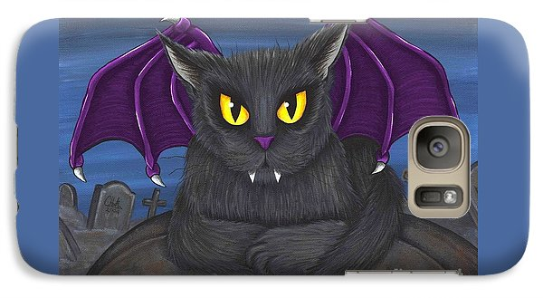 Galaxy Case featuring the painting Vlad Vampire Cat by Carrie Hawks