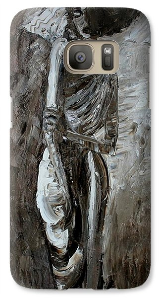 Galaxy Case featuring the painting Vogue Cafe Omsk by Jarmo Korhonen aka Jarko