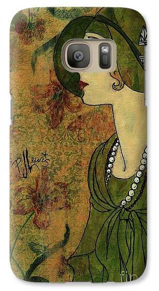 Galaxy Case featuring the painting Vogue Twenties by P J Lewis