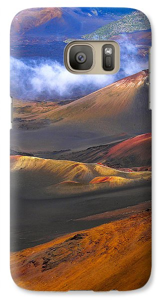 Galaxy Case featuring the photograph Volcanic Crater In Maui by Debbie Karnes