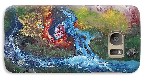 Galaxy Case featuring the painting Volcano Delta by Antonio Romero