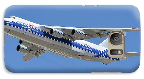 Galaxy Case featuring the photograph Volga-dnepr An-124 Ra-82068 Take-off Phoenix Sky Harbor June 15 2016 by Brian Lockett