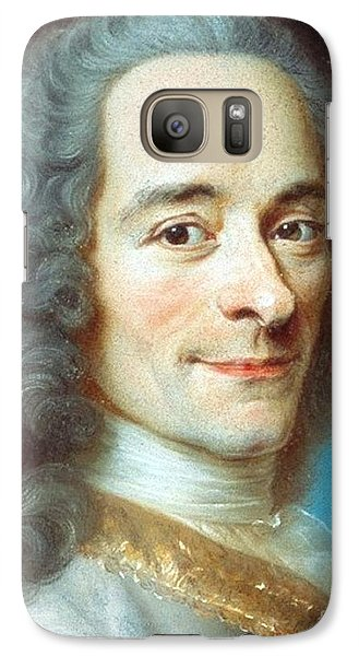 Galaxy Case featuring the painting Voltaire by Pg Reproductions
