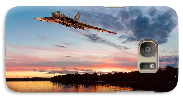Galaxy Case featuring the digital art Vulcan Low Over A Sunset Lake by Gary Eason