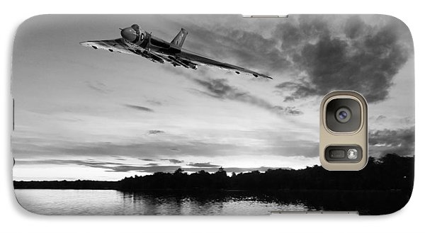Galaxy Case featuring the digital art Vulcan Low Over A Sunset Lake Sunset Lake Bw by Gary Eason