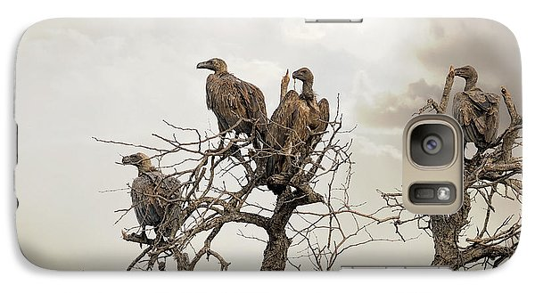Vultures In A Dead Tree.  Galaxy S7 Case by Jane Rix