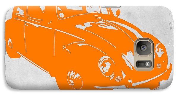 Beetle Galaxy S7 Case - Vw Beetle Orange by Naxart Studio