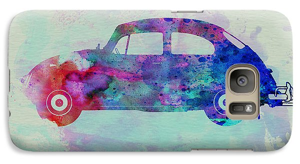 Beetle Galaxy S7 Case - Vw Beetle Watercolor 1 by Naxart Studio