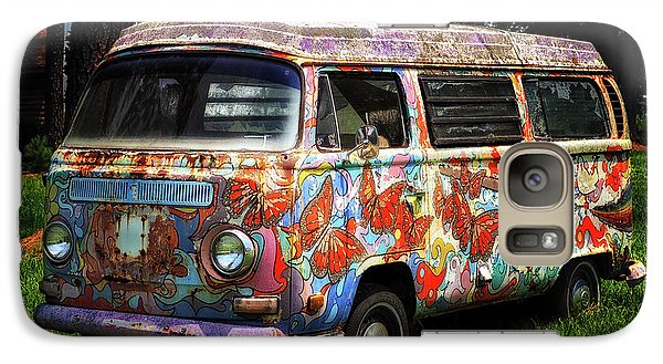 Galaxy S7 Case featuring the photograph Vw Psychedelic Microbus by Bill Swartwout Fine Art Photography