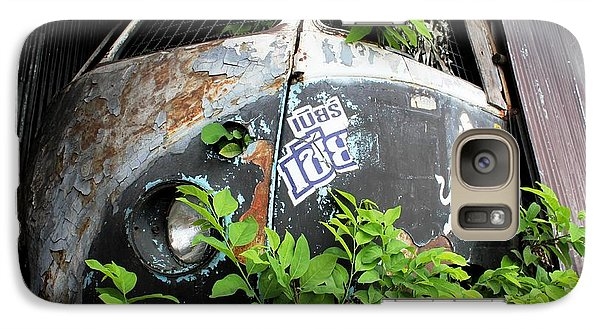Galaxy Case featuring the photograph Vw Van Wall by Nola Lee Kelsey