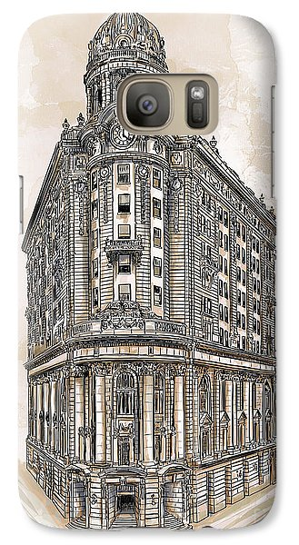 Galaxy Case featuring the painting Wabash Station Pittsburgh, Pennsylvania, Circa 1905 by Andrzej Szczerski