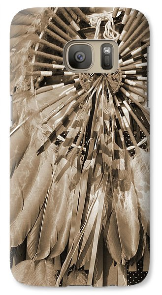 Galaxy Case featuring the photograph Wacipi Dancer In Sepia by Heidi Hermes