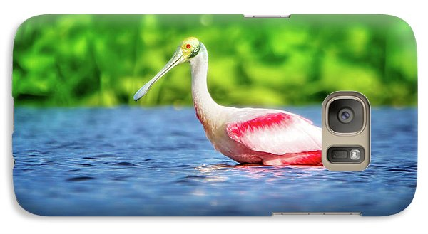 Wading Spoonbill Galaxy S7 Case by Mark Andrew Thomas