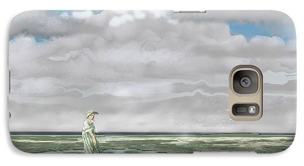 Galaxy Case featuring the digital art Wading The Salt Flats by Kerry Beverly