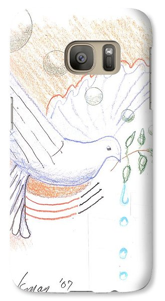 Galaxy S7 Case featuring the drawing Wage Peace by Rod Ismay