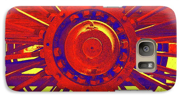 Galaxy Case featuring the photograph Wagon Wheel by Cynthia Powell