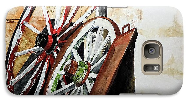Galaxy Case featuring the painting Wagon Wheels Of Zion by Tom Riggs