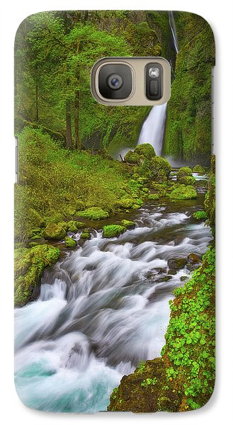 Galaxy Case featuring the photograph Wahclella Falls by Darren White
