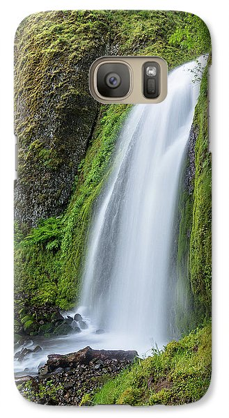 Galaxy Case featuring the photograph Wahkeena Falls by Greg Nyquist