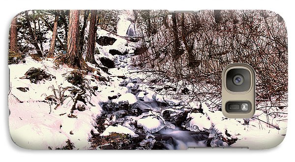 Galaxy Case featuring the photograph Wahkeena Falls In Ice by Jeff Swan