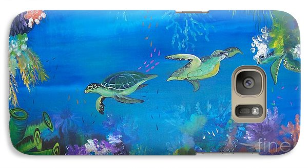 Galaxy Case featuring the painting Wait For Me by Lyn Olsen