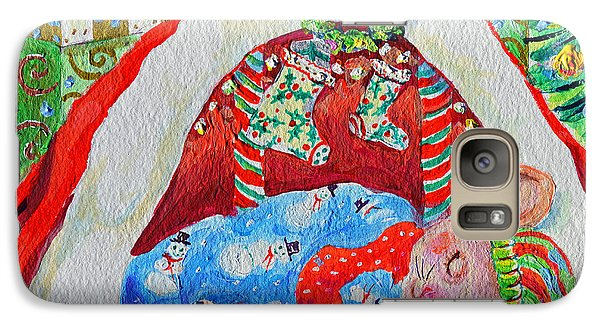 Galaxy Case featuring the painting Waiting For Santa by Li Newton